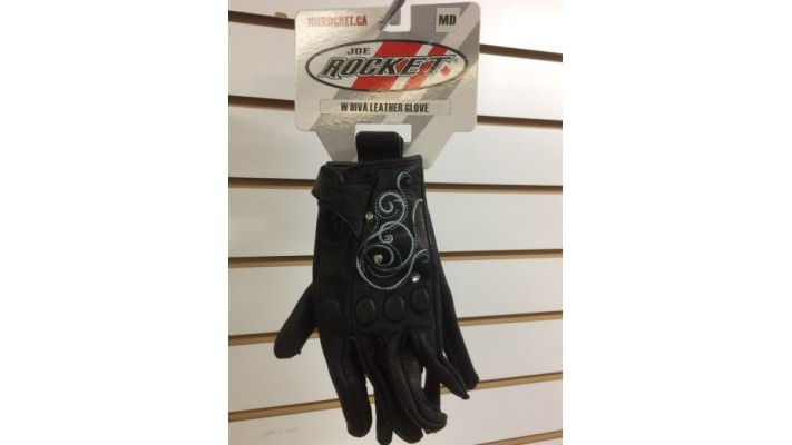 GANTS JOE ROCKET WOMEN'S DIVA LEATHER GLOVES MEDIUM BLACK