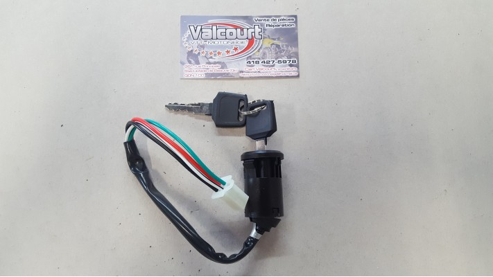 Ignition key switch - 4 pin male, plastic clip